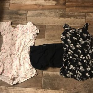 Other - 2 rompers and a pair of black girls shorts size M